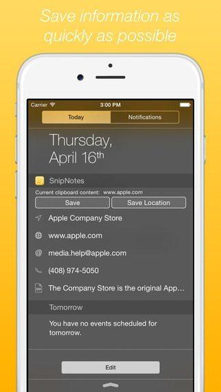 SnipNotes applicazioni per iPhone avrmagazine 1