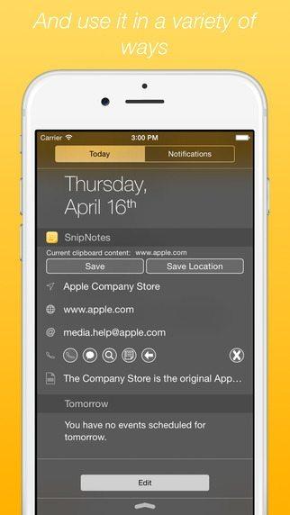 SnipNotes applicazioni per iPhone avrmagazine 2