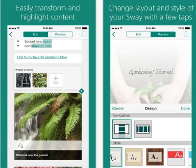 Microsoft Sway applicazioni per iphone avrmagazine