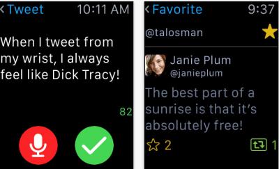 Il client di Twitter ora anche su Apple Watch