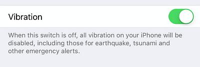 novita iOS9 vibrazione off novita iOS applicazioni iphone avrmagazine