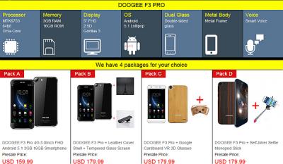 Dooge F3 Pro a partire da 159,99 $