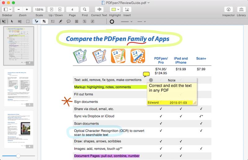PDFpen 7 applicazioni Mac avrmagazine 1