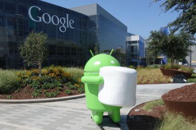 La statua di Android Marshmallow nel giardino di Mountain View