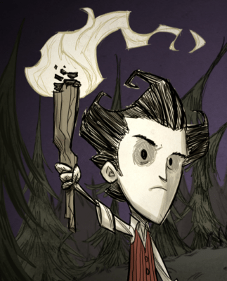 Lo scienziato Wilson protagonista di  Don't Starve Pocket Edition