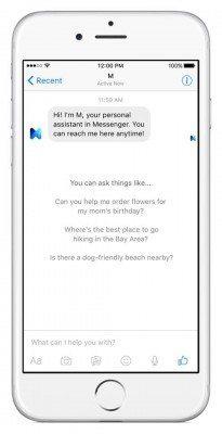 M, l'assistente personale di Facebook