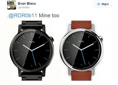 Il nuovo Moto 360 nel Tweet di Evan Blass