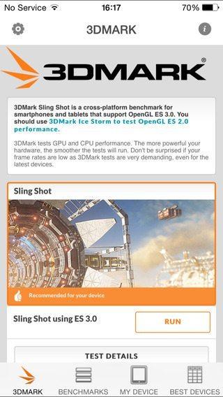 3DMark Sling Shot Benchmark giochi per iphone avrmagazine 3