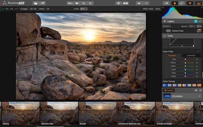 Aurora HDR applicaizoni per Mac 3