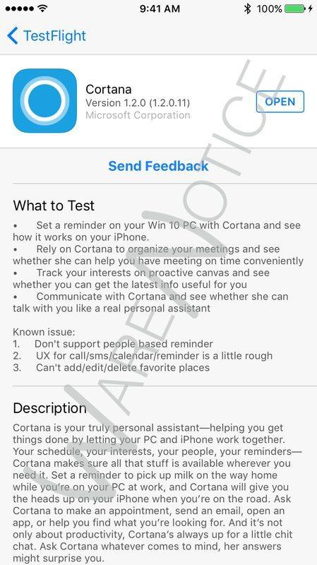 Cortana applicazioni per iphone avrmagazine 1