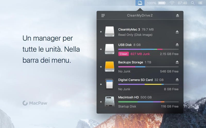 CleanMyDrive 2 applicazioni per Mac avrmagazine 1