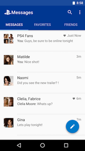 PlayStation Messages applicazioni per Android avrmagazine 1