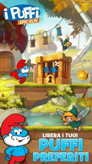 Puffi Epic Run giochi per iphone e Android avrmagazine 1