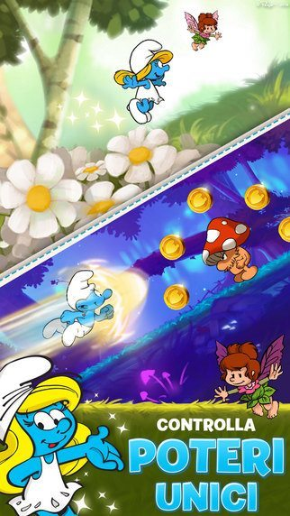 Puffi Epic Run giochi per iphone e Android avrmagazine 2