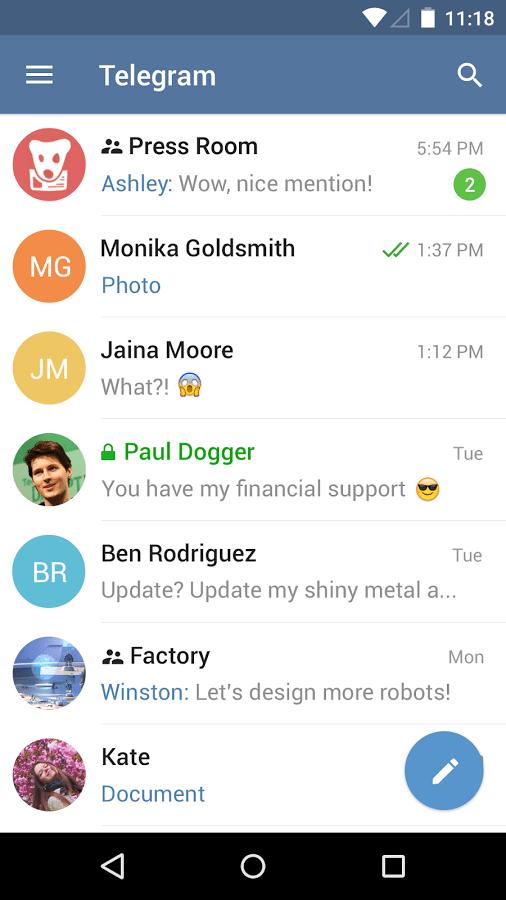 Telegram applicaizoni per Android avrmagazine 2