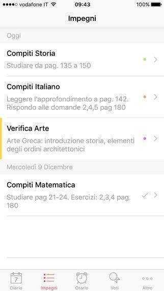 Diario Smart applicazioni per iPhone 1