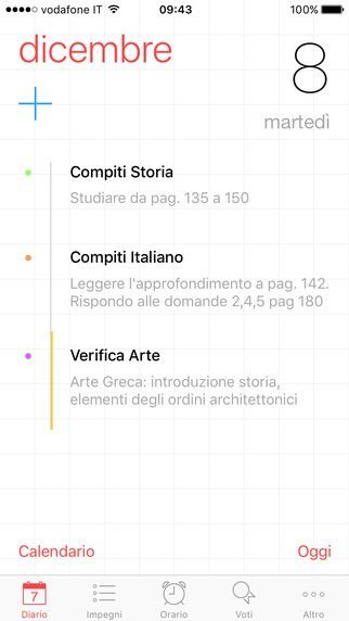 Diario Smart applicazioni per iPhone 2