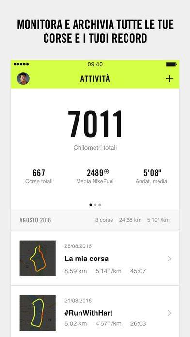 Nike+ Run Club applicazioni per iPhone 2