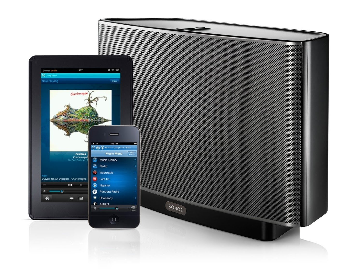 Sonos Play 5 diffusore wireless gestibile anche da iOS, Android, PC e Mac